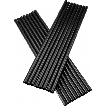 Drinking straws, Jumbo (8x255mm), black