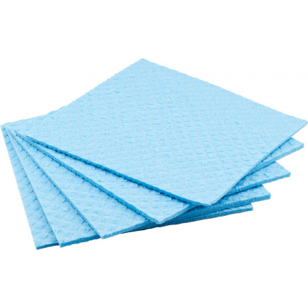 sponge cloth blue, 180x170mm - 5 pieces