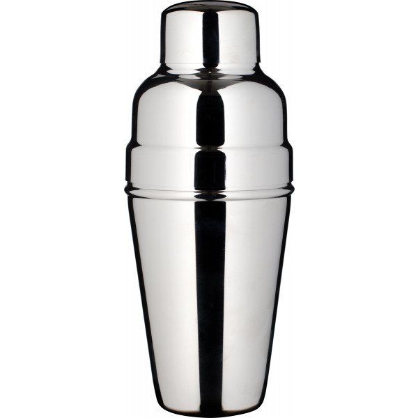 Cocktail shaker, BAR AID, polished stainless steel, tripartite (500ml) - Barstuff.com