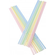 Drinking straws, bend (5x230mm), striped