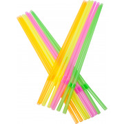 Drinking straws, bend (5x230mm), mixed neon colors