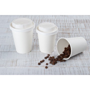 Coffee cups eco white - 0,2; 0,3l