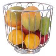 Fruit basket - chromed stainless steel