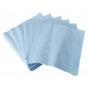 Napkins, 25x25cm, 1/4 fold, 2-layers, light blue - 100 pcs.