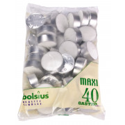 Maxi tealights Bolsius, 40 pieces (10h)
