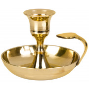 Candle light holder - brass