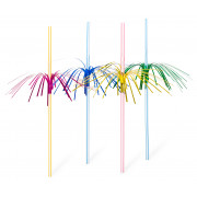 Drinking straws, firework (5x230mm), coloured