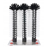 Glass cleaning brushes with metal base (3 x 25,0cm)