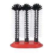 Glass cleaning brush with suction plate (3x25cm)