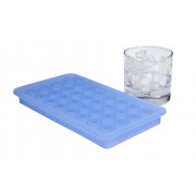 Ice tray, pearls- platinum-silicone (2cm)