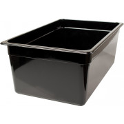 Gastronomy-standard container 200mm depth - plastic black (GN 1/1)