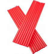 Drinking straws, Jumbo (8x255mm), red