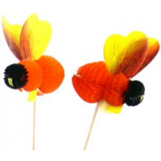 Bee skewers - 5 x 15cm (50pcs.)