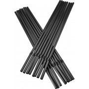 Drinking straws, bend (5x240mm), black