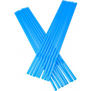 Drinking straws, bend (5x240mm), blue