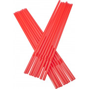 Drinking straws, bend (5x240mm), red