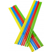 Drinking straws, bend (5x240mm), coloured