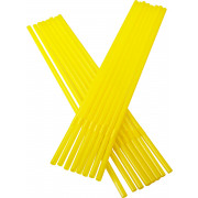 Drinking straws, bend (5x240mm), yellow
