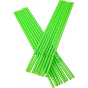 Drinking straws, bend (5x240mm), green