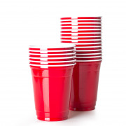 Disposable Cup Red Cup, SOLO - 355ml (50 Stk.)