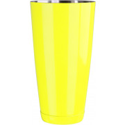 Boston shaker, fluorescent yellow - stainless steel (850ml)