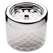 Wind ashtray, glass - frosted white