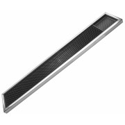 Bar mat with stainless steel frame - 61x10cm