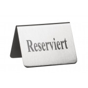 "Table sign ""Reserviert"" (reserved), stainless steel - 5,3cm"