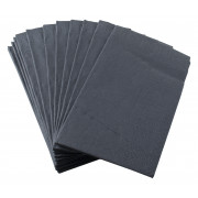 Napkins, Duni, 33x33cm, 1/8 fold, 3 layers, black - 250 pcs.