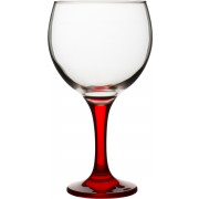 Balloon glass Gin&Tonic, red stem, Gürallar - 645ml