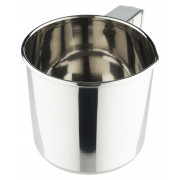 Mug with handle, stainless steel polished,silver coloured -390ml