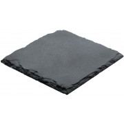 Coaster, natural slate, 10X10cm (4pieces)