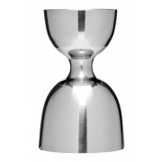 Bell jigger, silver look - stainless steel (30/60ml)