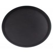 Tray, fyber glass, black, 36cm