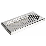 Drip Tray, rectangular, cross pattern - stainless steel