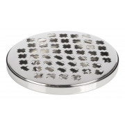 Drip Tray, round, cross pattern - stainless steel
