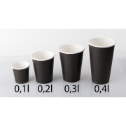 Disposable Coffee cup Fiesta, black (1000 pcs.) - 300ml