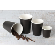 Coffee cups Fiesta, paper, black - 0,1l / 0,2l / 0,3l / 0,4l