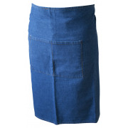 Bar Apron, denim, 70x90cm - washed (light)