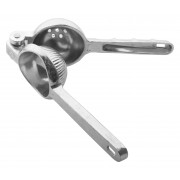Lime squeezer (mexican elbow), silver - aluminium alloy