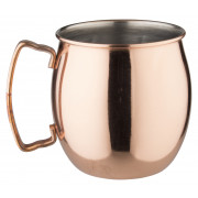 Stainless steel mug Moscow Mule, copper colored, Prime Bar - 400ml