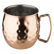 Stainless steel mug Moscow Mule, copper colored, hammered, Prime Bar - 400ml