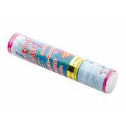 Streamer-confetti-shooter, multi-colored metal foil - 20cm