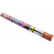 Streamer-confetti-shooter, multi-colored metal foil - 58cm
