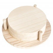 Coaster, natural wood - 9,5cm (6 pcs.)