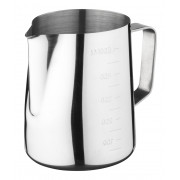 Milk jug, stainless steel with scaling - 600ml