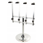 Portable 4 bottle stand, heavy base (0,7l-1,0l)