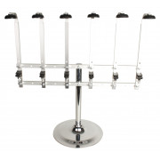 Portable 6 bottle stand, heavy base (0,7l-1,0l)
