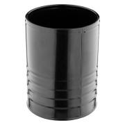 Cutlery holder / metal can - black (14,5cm)
