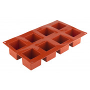 Ice tray, silicone, 8 cubes (5cm) - red